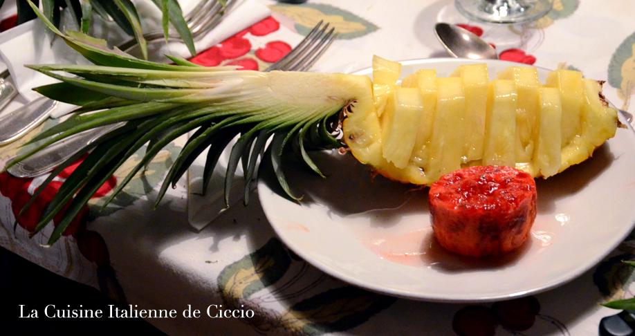 Ananas au maraschino la cuisine italienne de ciccio - Cuisine italienne dessert ...